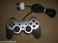 SONY PLAYSTATION 2 PS2 OFFICIAL DUALSHOCK 2 CONTROLLER in Satin Silver Game Pad
