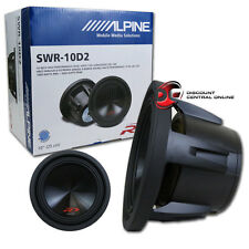 ALPINE SWR-10D2 10-INCH TYPE-R DUAL 2-OHM CAR AUDIO SUBWOOFER 300-1000W RMS