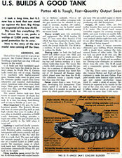 Introducing the Patton M-48 Tank ORIGINAL MAGAZINE ARTICLE FROM 1952