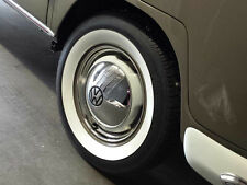 "VW TYPE 1 2 BUG BUS ACCESSORY 15"" WHEEL STAINLESS STEEL BEAUTY TRIM RING SET"