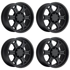 "Set 4 18"" Vision 372 Raptor 18x9.5 6x135mm +25mm Matte Black Wheels 372-8936MB25"