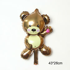 Cartoon Brown Little Bear Foil Balloons Children Toy Birthday Party Decoration