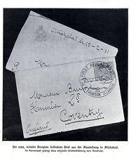 Der erste mittels Aeroplan beförderte Brief ( Luftpost Stempel Allahabad ) 1912