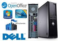 Fast Dell Optiplex Core 2 Duo 3.0GHz WiFi Desktop Computer PC 250GB Windows 7
