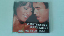 "WHITNEY HOUSTON ""COULD I HAVE THIS KISS FOREVER"" CD SINGLE 1 TRACKS RARE PROMO"