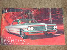 1962 Pontiac Grand Prix Factory GM Original Owners Manual First Edition July 61