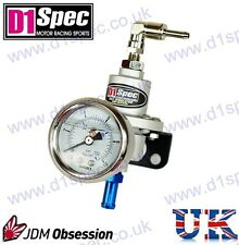 D1 SPEC FUEL PRESSURE REGULATOR SILVER up to 450BHP WITH SKON GAUGE JDM DRIFT