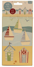 Chic Shabby Nautical Beach Hut Yacht Boats Seaside Fridge Magnets Set of 5 Pack