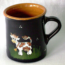 Mug Cow 3D Embossed Coffee Szentendre Hungary Wheel Turned Coffee Tea Brown