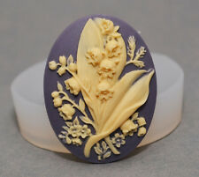 Flower Cameo silicone mould  Cupcake polymer clay chocolate resin fimo mold