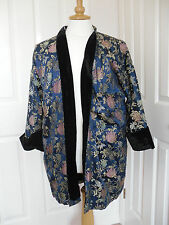 Outstanding vintage handmade chinese style silk jacket with black velvet lining
