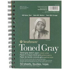 """Gray 50 Sheets - Strathmore Toned Sketch Spiral Paper Pad 5.5""""X8.5"""""""