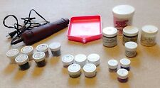 Stampin up embossing powder LARGE LOT Suze Weinberg Radiant Pearls, heating tool