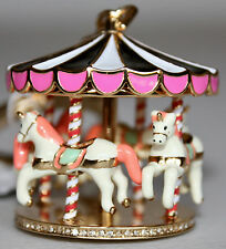 NWT Kate Spade New York Spinning Carousel Bag Charm Keychain Key Fob Ring Chain