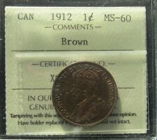 1912 CANADA LARGE CENTS KING GEORGE V  ICCS MS-60