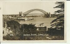 SYDNEY HARBOUR BRIDGE  FERRIES  SYDNEY PHOTO POSTCARD