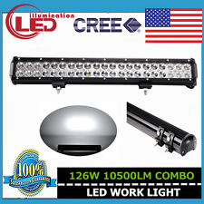 20INCH 126W CREE SPOT FLOOD COMBO WORK DRIVING LED LIGHT BAR 12V 24V 4WD JEEP