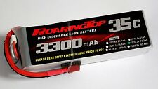 RoaringTop LiPo Battery Pack 35C 3300mAh 6S 22.2V with Deans Plug