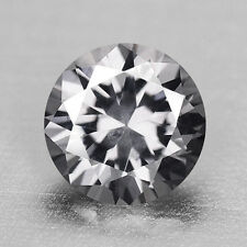 0.87CTS SPARKLING ROUND DIAMOND CUT SILVER GRAY SPINEL VIDEO IN DESCRIPTION