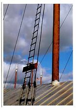 Camden Maine Postcard Pole Ship Mast Flag Ladder Posted 1988 Owls Head