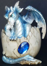 SAPPHIRE   Birthstone Dragon in Shell   SEPTEMBER   Figure Statue H5.5""