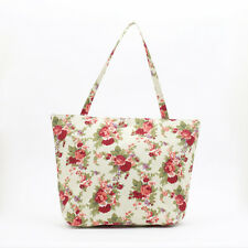 NEW Vintage Shabby Chic Rose Bouquet Shopper cotton Tote Beach Bag, Knitting Bag