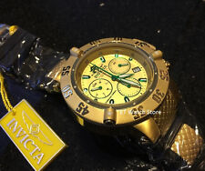 @NEW Invicta 50mm Subaqua Noma III Quartz Rubber Strap Watch Gold Tone 90111