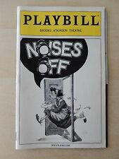 February 2002 - Brooks Atkinson Playbill w/Ticket - Noises Off - Gallagher