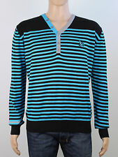 Henleys mens size 4 large xl black light knit v neck jumper