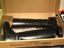 Women's Devon-aire Black Leather Tall Boots Size 7.5 *005
