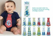 Mud Pie Birthday Boy Baby Growth Milestone Month Tie Outfit Stickers 1002005