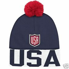 Team USA Adidas 2016 World Cup of Hockey Pom Beanie - NEW