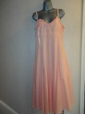 BNWT Size 12 Peach Calf Length Lined Cotton Summer Dress By Together RRP £59