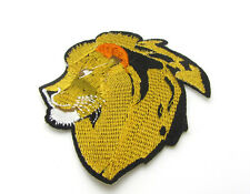 New good quality Embroidered Applique Iron On Sew On Patch Lion head Pattern