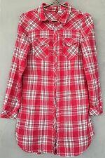 H&M Hemd 40 Damen Bluse Hemdbluse Tunika Karohemd Kariert Shirt Top apart