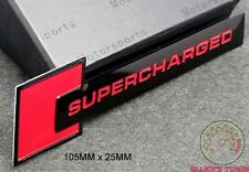 AUDI SUPERCHARGED EMBLEM SCHRIFTZUG (RBK) A3 A4 S4 S3 Quattro RS TT sport