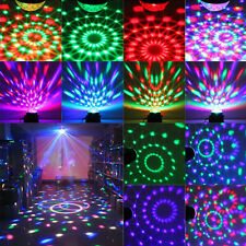 RGB LED MP3 DJ Club Disco Party Crystal Magic Ball Stage Laser Xmas Light EU US