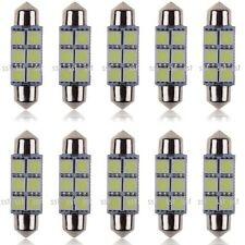 10x 38mm 39mm LED 239 272 C5W CANBUS NO ERROR WHITE INTERIOR LIGHT FESTOON BULB
