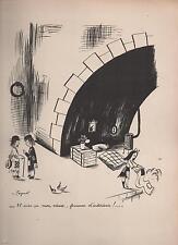 PEYNET. Tirage noir et blanc. Femme d'intérieur !  format 24 x 32 cm. 1943.