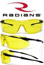 Radians Aftershock Yellow HD Safety Glasses Sunglasses Night Driving Z87.1