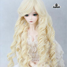 "9-10"" 1/3 BJD 70cm BJD Wig Dollfie Luts EID AOD wig SD princess curls Hair #106"