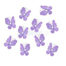 50 Wire Nylon Stocking Butterfly Purple w/ Glitter Party Wedding Decoration 3cm