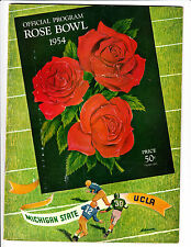 01/01/1954 ROSE BOWL PROGRAM MICHIGAN ST VS UCLA