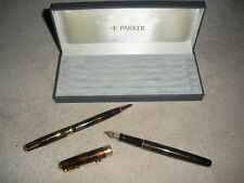 NIB Parker Chinese Laquer Sonnet Fountain & Ballpoint Pen Set