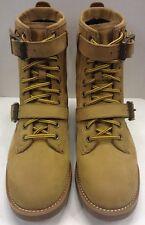 Polo Ralph Lauren Maurice Strap Leather Boot Wheat Tan Men's 11 D $189 NIB New