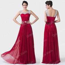 2 Styles Women Formal Evening Ball Gown Wedding Prom Party Prom Bridesmaid Dress