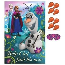 New Disney Frozen Anna Elsa  Birthday Party Game - Help Olaf find his nose -