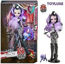 Monster High FREAK DU CHIC Clawdeen Wolf Doll LION TAMER & Pet Kitten Crescent !