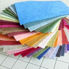 """38 - 6""""X6""""  Heathered Collection - Merino Wool blend Felt Sheets"""