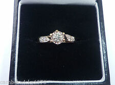 9ct gold 0.25ct Diamond Ring, Size M 1/2